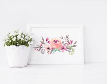 Peony Art Print - art print - pink peony - housewarming gift - ideal gift for flower lovers