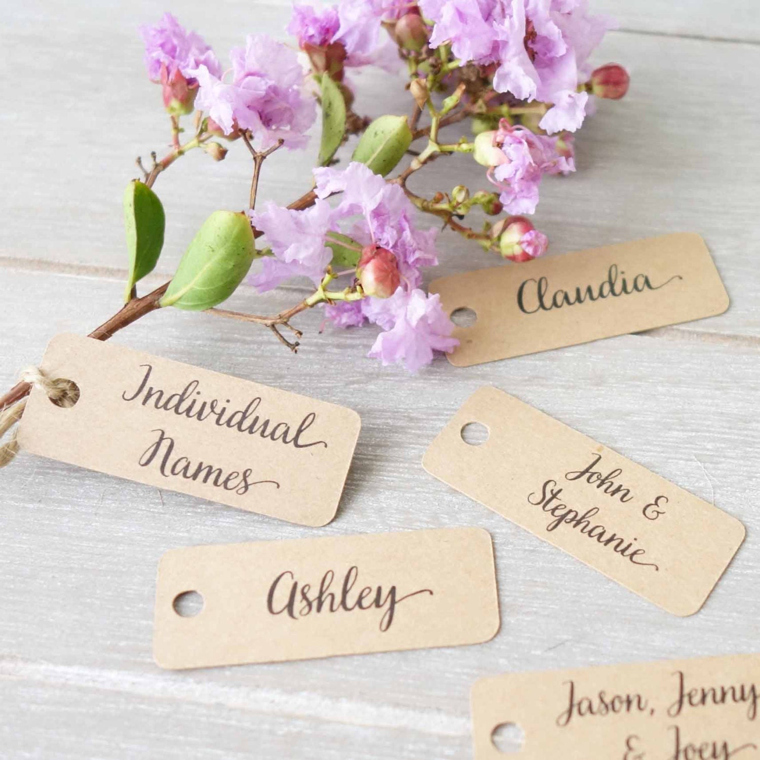 Wedding Personalised Name Tags Place Cards Name Labels