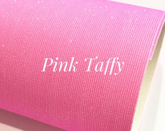 Taffy Pink Fine Glittered Leatherette A4 Sheet