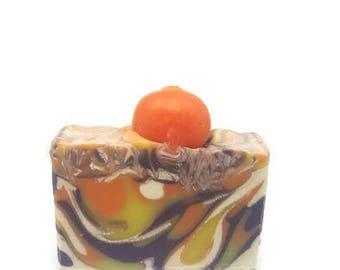 Pumpkin Patch Soap - Christmas Soap - Shea Butter Soap - Potpourri Soap - Handcrafted Soap - Homemade Soap - Moisturizing Soap - Swirly Soap