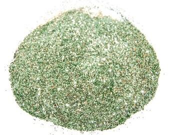 Sea Green Glitter, SOLVENT RESISTANT, Glitter, 0.015 Hex, Green, Nail Art, Nail Polish Glitter, Craft Glitter, Sea Green, Green Nails,