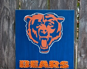 Chicago Bears String Art, Chicago Bears Sign, Chicago Bears Baby, Chicago Bears, Chicago Art, Chicago Sign, Chicago Illinois, Mancave Sign