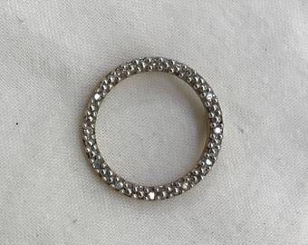 Vintage 10k Gold and Diamond Circle of Life Pendant Designer D - Lovely!