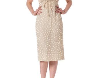 1960s Beaded Silk Dress from Larry Aldrich SIZE: XS, 0/2