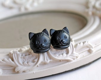 Black Kitty cats  Earrings cute kawaii Halloween
