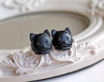 Black Kitty Katzen Ohrstecker süsse Kawaii Halloween