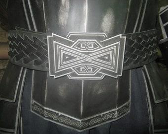 Larp the Belt of battle dwarf.LOTR. Fiberglass and Leather