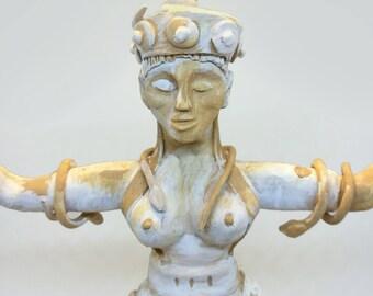 Cretan Snake Goddess (reinterpretation)