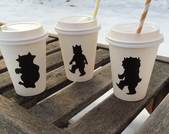 WhEre The WILD things are Chalkboard Labels for hot cocoa bar or mason jars baby shower birthday party decorations decor favor decals