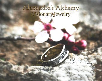 Engagement ring /  wedding ring/ ooak design ring/ band ring