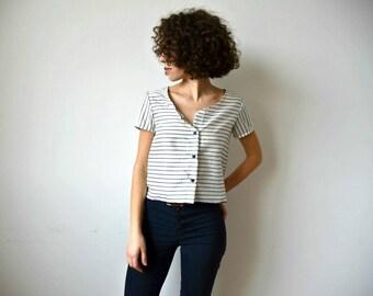 Helene blouse-striped silk blouse