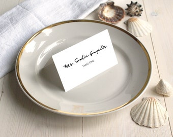PDF Template 3.5x2 tent style Place Card Escort Card Name Card Table Number Seating Card INSTANT DOWNLOAD Wedding calligraphy Printable