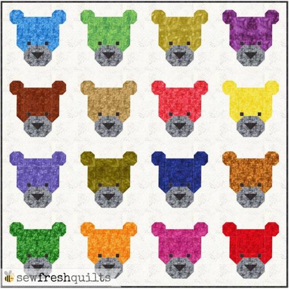 Teddy Bears Quilt Pattern Pdf Instant Download Modern Patchwork