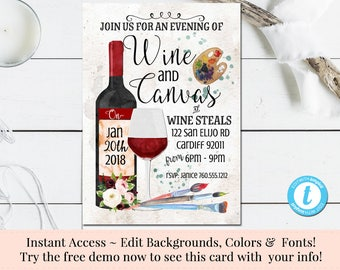 Wine Invitations Etsy - Wine and cheese party invitation template free