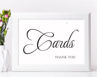 Wedding Sign, CARDS Sign, Wedding Signs, Reception Decor, Wedding Signage, Wedding Decorations, Receptions Signs, Reception Decorations