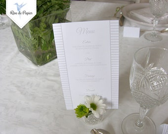 Set of 12 menus (with your menu)