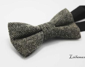 Wool Bow Tie, Restoring ancient ways, British , Fashion wedding, Gift For Man