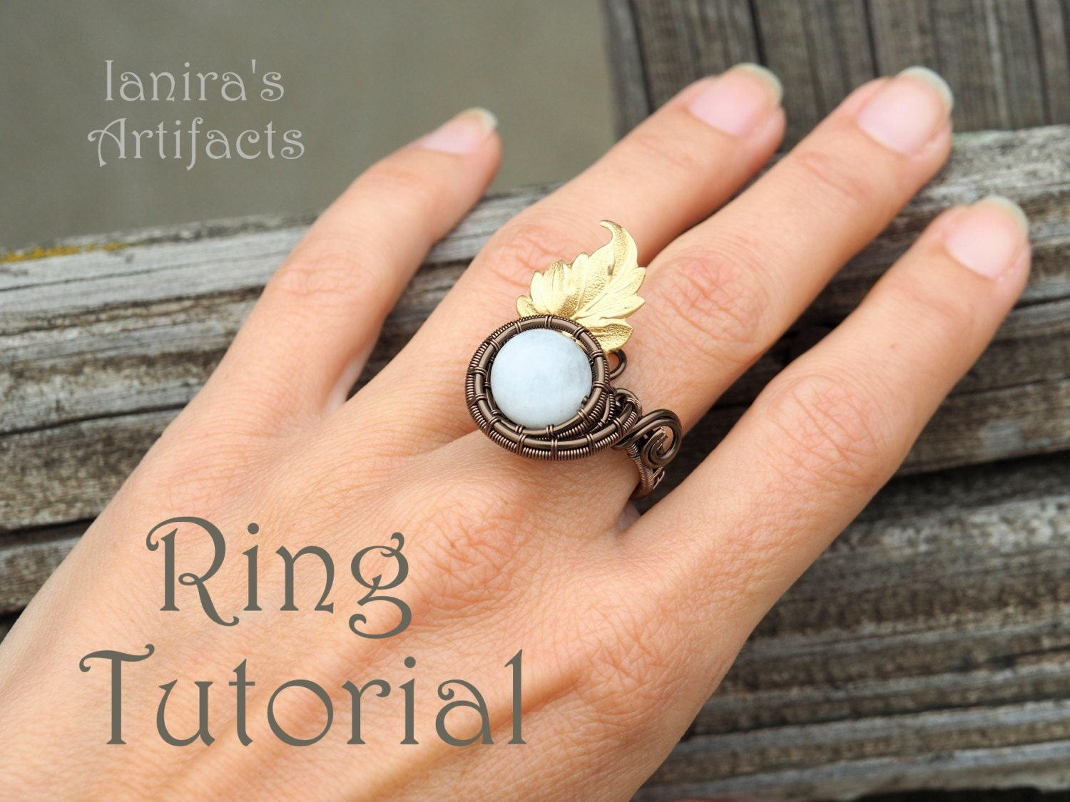 Wire wrap ring tutorial Pattern How to make rings Wire