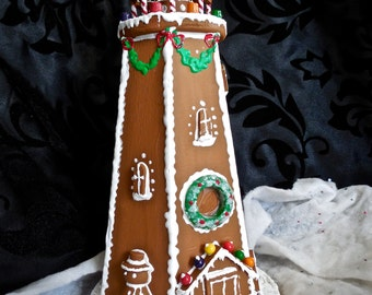 Faux Gingerbread Lighthouse