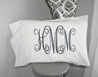 Monogrammed Pillowcases, Pillow case monogrammed, Custom pillowcase, Wedding pillowcase, Dorm bedding, Sorority pillowcases!