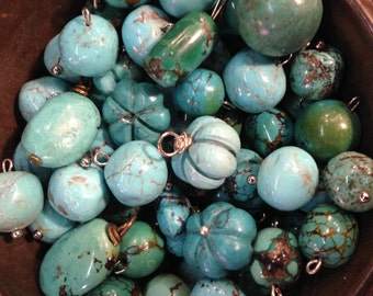 Natural Turquoise Charms