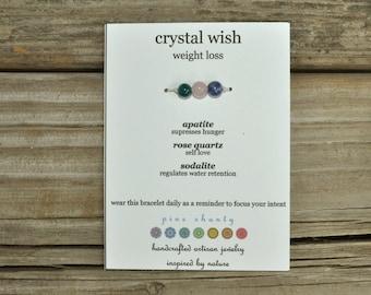 Wish Bracelet, Apatite, Rose Quartz, Sodalite, Hemp, Crystal Healing, Meditation Bracelet, Stack Bracelet, Yoga Bracelet, Intent