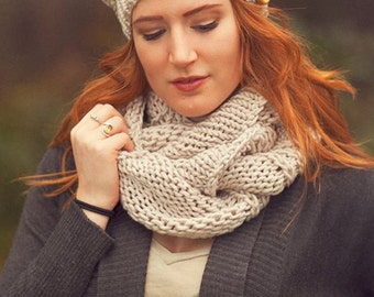 Chunky Cowl Oversize Hand Knit Cowl