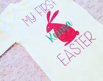 Baby's first Easter. Baby Easter Outfit. Easter bodysuit. Baby girl. Baby girl Easter
