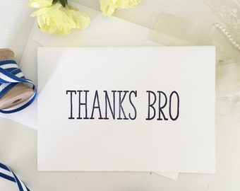 Thank You For Being My Groomsman Card, Groomsmen Thank You Cards, Thanks Bro, Groomsman Gifts, Best Man Gift, Best Man Thank You Cards Navy