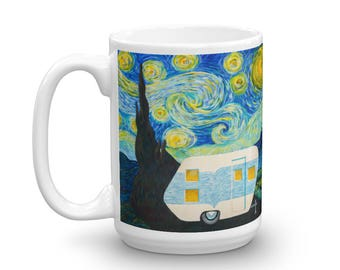 Starry, Starry Night Vintage Trailer Mug 15oz