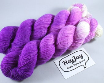 Hand Dyed Ultimate Sock Yarn, BFL High Twist - Forest Smoothie