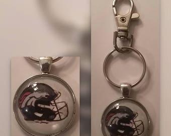 Denver Broncos key chain