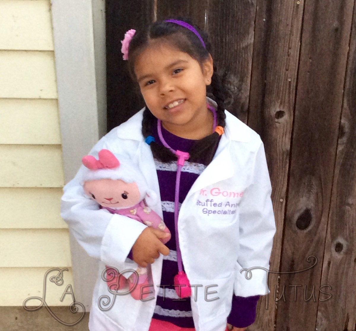 ?zoom  sc 1 st  Etsy & Doctor lab coat stuffed animal specialist personalized
