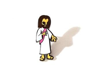 Alien Jesus pin