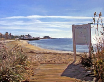 Beach Art, Beach Decor, Vacation Gifts, Special Place, Oil Painting, Custom Painting from Photo