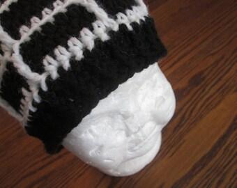 Crochet Spiderweb Beanie Hat
