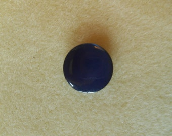"""Button Ring - 5/8"""" - Vintage - Midnight Blue, high sheen plastic"""