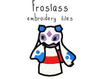 Pokemon Froslass EMBROIDERY MACHINE FILES pattern design hus jef pes dst all formats Instant Download digital applique kawaii cute