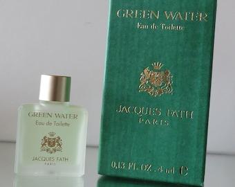 Green Water by Jacques Fath - FULL - Miniature perfume bottle - Eau de Toilette Parfum-
