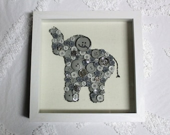Button Art - Elephant