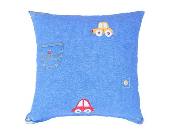 Cars Pillow Cover- Blue,Red,Yellow