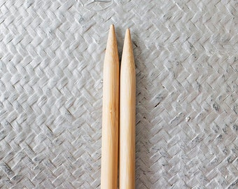 Wooden Knitting needles 12mm, US 17