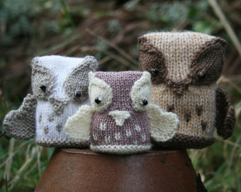KNITTING PDF PATTERN, Owl Softies, The Hoot Family, Knitted owl, Soft toy, Knitted toy, Instant download