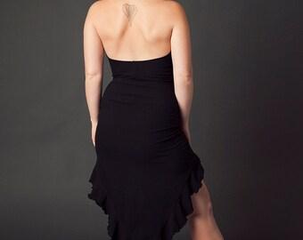 Niada Dress, High Low Dress, Cowl Top, Hooded Dress, Halter Dress, Pixie Dress, Summer Dress, Fairy Clothing, Hoop Clothes, Festival Wear