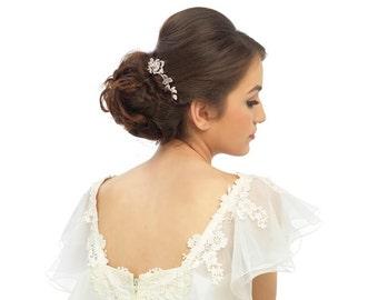 Rose hair comb, rose hair clip, rose hair accessory, bridal hair comb, wedding comb, bridal hair piece, bridal accessory, vintage hair comb,