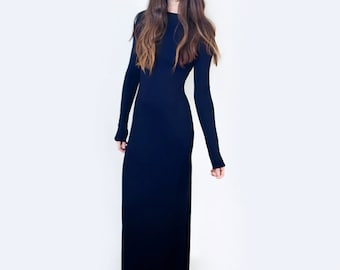 Maxi Dress |  Boatneck | Women's Tall or Petite Length Dresses | Relaxed Dress | Minimalist | Made in our USA loft | L415&Co (# 415-715)