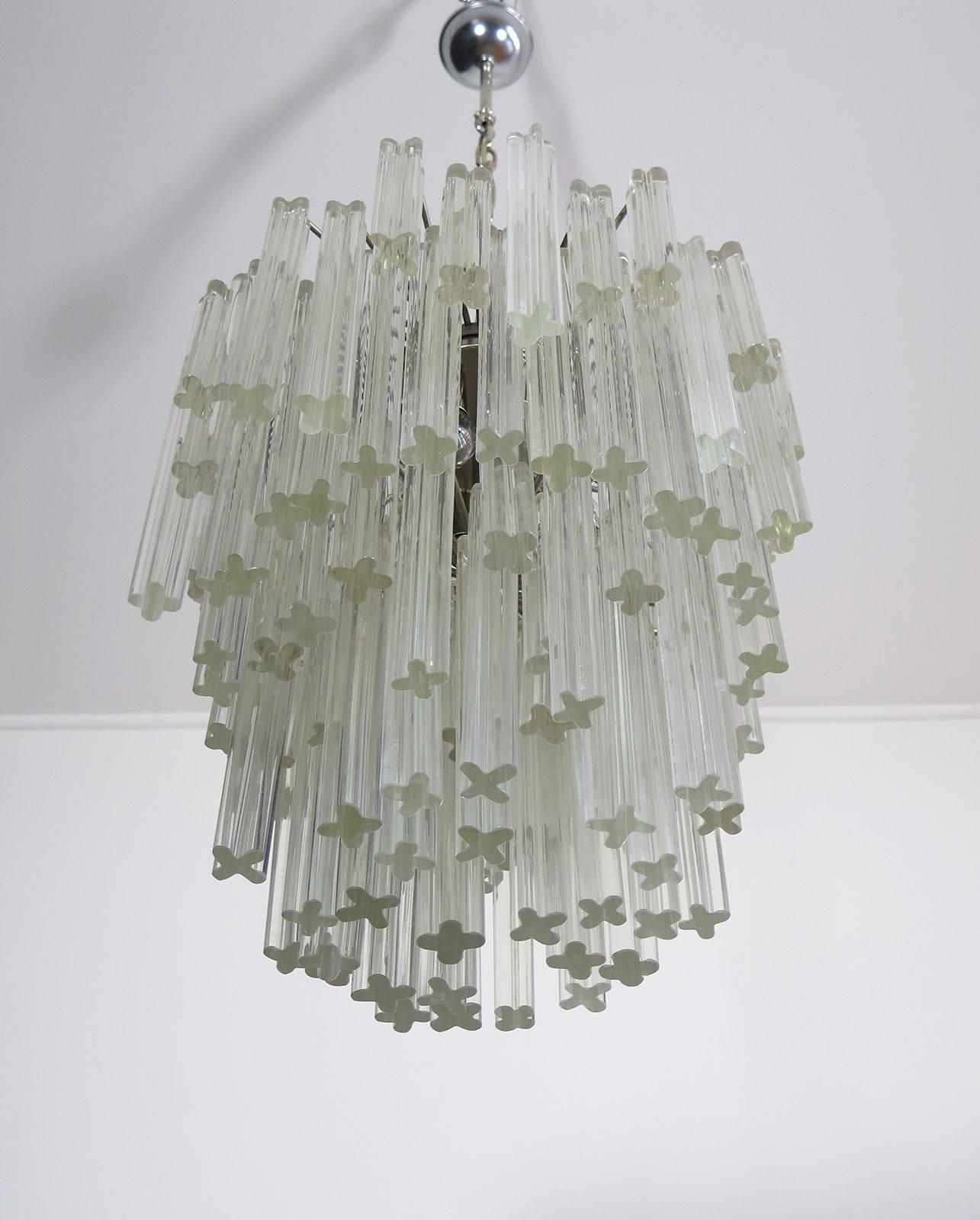 Murano big chandelier venini 107 prism quadriedri description translated by microsoft arubaitofo Image collections
