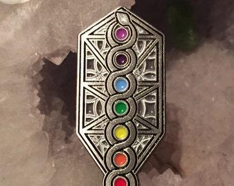 Sacred Chakra Geometry Heady Hat Pin