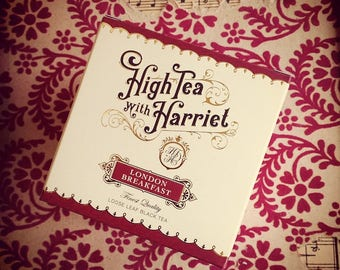 London Breakfast - boutique loose leaf tea in hand-designed, vintage style packaging.
