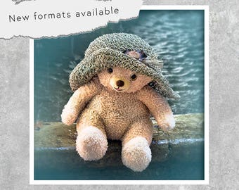poster photography bear Hat poster printable instant download 5 X 5 8 X 8 10 X 10 12 X 12 15 X 15 16 X 16 18 X 18 20 X 20 30 X 30 50 X 50